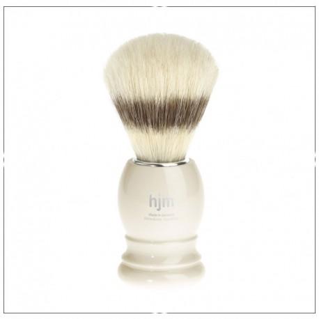 Blaireau de rasage - Pure soie, ivoire - HJM