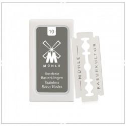 Lames de rasoir MÜHLE pour les rasoirs de sûreté traditionnels - Boîte de 10 lames