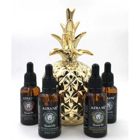 Pack découverte de 4 huiles pour barbe Azbane