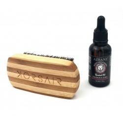Pack Géranium - Huile Géranium & citrus et brosse à barbe